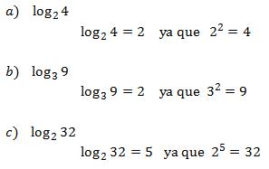 logaritmos ejemplos