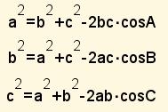 teorema del coseno 2