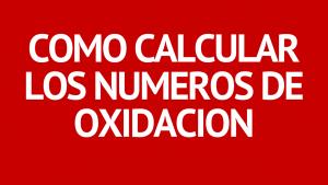 numeros de oxidacion